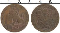 Изображение Монеты Бельгия 5 сантим 1842 Медь VF
