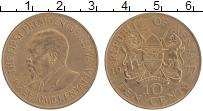 Изображение Монеты Кения 10 центов 1977 Бронза XF Мзее Йомо Кеньятта
