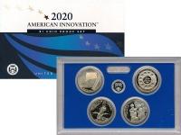 Изображение Подарочные монеты США 1 доллар 2020 Латунь Proof 4 монеты из серии Ин