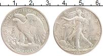 Изображение Монеты США 1/2 доллара 1942 Серебро XF