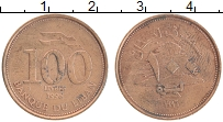 Изображение Монеты Ливан 100 ливр 1998 Латунь XF