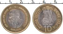 Изображение Монеты Индия 10 рупий 2009 Биметалл UNC 100 лет со дня рожде