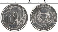 Изображение Монеты Сингапур 10 центов 2013 Медно-никель UNC