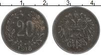 Изображение Монеты Австрия 20 геллеров 1916 Железо XF-