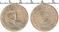 Изображение Монеты Филиппины 5 песо 2005 Латунь UNC Эмилио Агинальдо