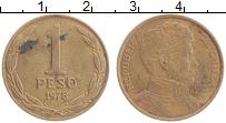 Изображение Монеты Чили 1 песо 1978 Бронза XF Освободитель О Хигги