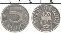 Изображение Монеты Швеция 5 крон 2002 Медно-никель UNC- Карл Густав XVI