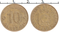 Изображение Монеты Латвия 10 сантим 2008 Медно-никель XF
