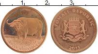 Изображение Монеты Сомали 5 шиллингов 2013 Бронза UNC- Буйвол