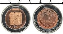 Изображение Монеты Мексика 10 сентаво 2012 Биметалл UNC- UNUSUAL.Культура Цен