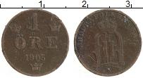 Изображение Монеты Швеция 1 эре 1905 Бронза XF Оскар II
