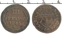 Продать Монеты Висмар 3 пфеннига 1751 Медь