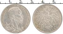 Продать Монеты Шварцбург-Зондерхаузен 2 марки 1905 Серебро