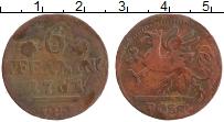 Продать Монеты Росток 6 пфеннигов 1761 Медь