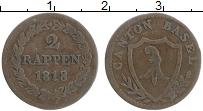 Продать Монеты Базель 2 раппа 1818 Серебро