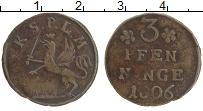 Продать Монеты Росток 3 пфеннига 1792 Медь