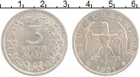 Продать Монеты Веймарская республика 3 марки 1931 Серебро