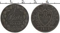 Продать Монеты Вауд 1 батзен 1819 Серебро