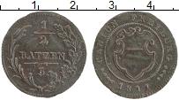 Продать Монеты Фрибург 1/2 батзена 1811 Серебро