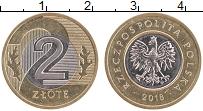 Продать Монеты Польша 2 злотых 2017 Биметалл