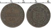 Продать Монеты Тоскана 2 чентезимо 1859 Медь