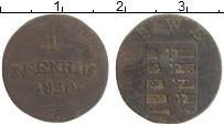 Продать Монеты Саксен-Веймар-Эйзенах 1 пфенниг 1825 Медь