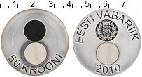 Продать Монеты Эстония 50 крон 2010 Серебро