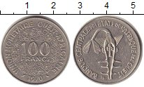 Изображение Монеты Западно-Африканский Союз 100 франков 1970 Медно-никель UNC-