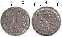 Изображение Монеты Южная Америка Аргентина 1 песо 1958 Медно-никель XF-
