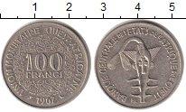 Изображение Монеты Африка Западно-Африканский Союз 100 франков 1967 Медно-никель XF