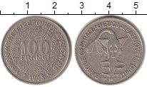 Изображение Монеты Африка Западно-Африканский Союз 100 франков 1968 Медно-никель XF-