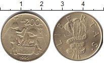 Изображение Монеты Европа Сан-Марино 200 лир 1995  UNC-