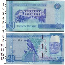 Изображение Банкноты Африка Гамбия 20 даласи 0  UNC-