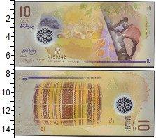 Изображение Банкноты Мальдивы 10 руфий 2015 Пластик UNC