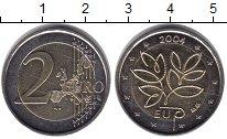 Изображение Монеты Европа Финляндия 2 евро 2004 Биметалл XF