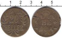 Изображение Монеты Германия Немецкая Африка 20 хеллеров 1916 Медь