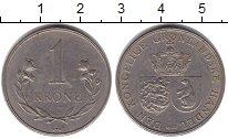 Изображение Монеты Дания Гренландия 1 крона 1960 Медно-никель XF