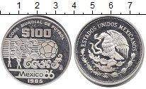 Изображение Монеты Мексика 100 песо 1985 Серебро Proof ЧМ по футболу 1986