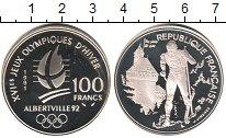 Изображение Монеты Франция 100 франков 1991 Серебро Proof- XVI Олимпиада. Альбе