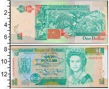 Изображение Банкноты Северная Америка Белиз 1 доллар 1990  UNC