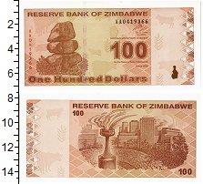 Изображение Банкноты Зимбабве 100 долларов 2009  UNC
