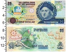 Изображение Банкноты Багамские острова 1 доллар 1974  UNC Христофор Колумб. Пр