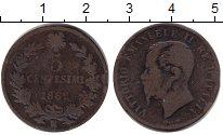 Изображение Монеты Европа Италия 5 сентим 1862 Медь VF