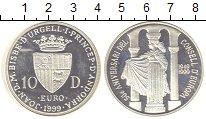 Изображение Монеты Андорра 10 динерс 1999 Серебро Proof