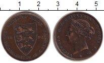 Изображение Монеты Остров Джерси 1/24 шиллинга 1894 Медь XF Виктория.