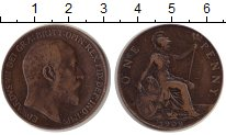 Изображение Монеты Европа Великобритания 1 пенни 1909 Медь VF