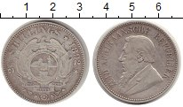 Изображение Монеты Африка ЮАР 2 1/2 шиллинга 1892 Серебро VF