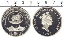 Изображение Монеты Тувалу 5 долларов 1997 Серебро Proof-