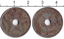 Изображение Монеты Бельгийское Конго 10 сантим 1911 Медно-никель XF Звезда