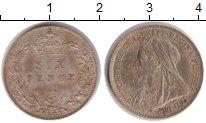 Изображение Монеты Европа Великобритания 6 пенсов 1901 Серебро XF